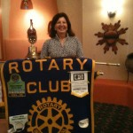 Irene Webb at Santa Fe Rotary
